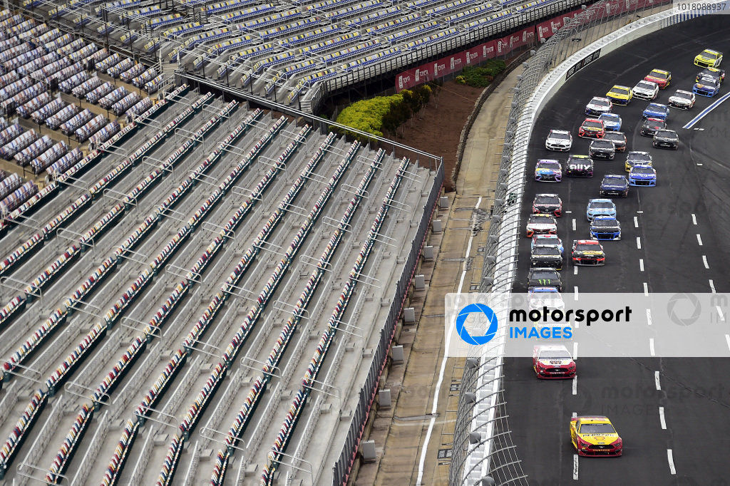 Joey Logano, Team Penske Ford Shell Pennzoil leads Copyright Jared C. Tilton/Getty Images