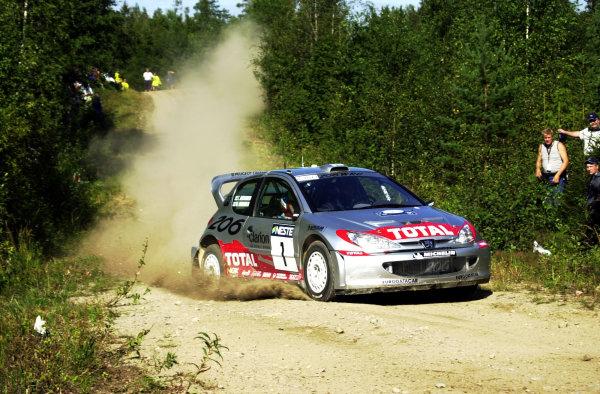 2001 World Rally Championship.Neste Rally Finland. Jyvaskyla, August 24-26, 2001.Marcus Gronholm on stage 14.Photo: Ralph Hardwick/LAT