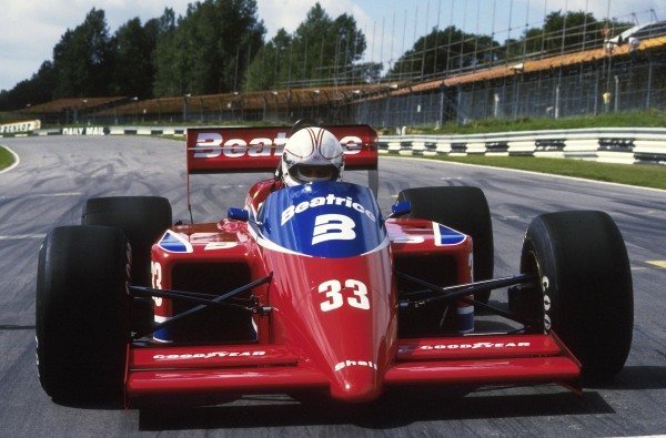 Alan Jones (AUS) Lola THL. Brands Hatch, 1986.
