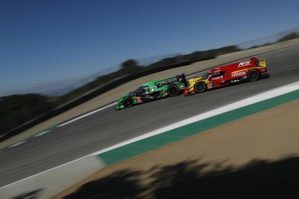 #52 AFS PR1 Mathiasen Motorsports Ligier LMP2, P: Sebastian Saavedra, Gustavo Yacaman pushes #2 Tequila Patr?n ESM Nissan DPi, P: Scott Sharp, Ryan Dalziel, crash, penalty