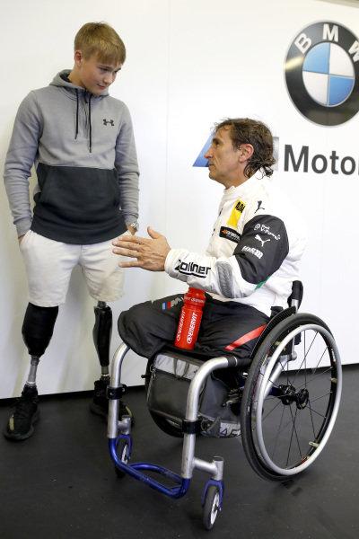 Billy Monger with Alex Zanardi, BMW Team RMR.