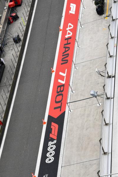 1000th Race Branding in pit lane