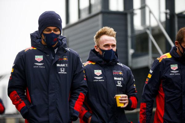 Alexander Albon, Red Bull Racing walks the track