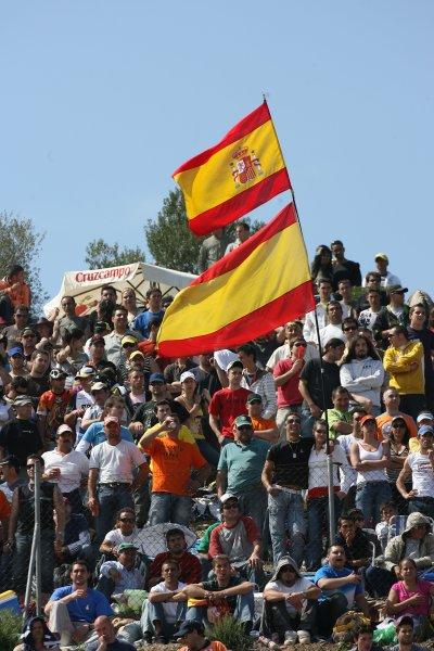 2008 Moto GP ChampionshipJerez, Spain. 28th - 30th March 2008.Spanish Flags.World Copyright: Martin Heath/LAT Photographicref: Digital Image Only