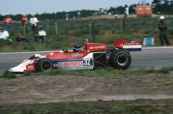 Anderstorp, Sweden. 17-19 June 1977. Mikko Kozarowitsky, March 761 Ford, did not qualify. Ref: 77SWE19. World Copyright - LAT Photographic
