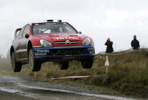 2004 FIA World Rally Champs. Round twelve, Wales Rally GB.16th- 19th September 2004.Carlos Sainz, Citroen, action.World Copyright: McKlein/LAT