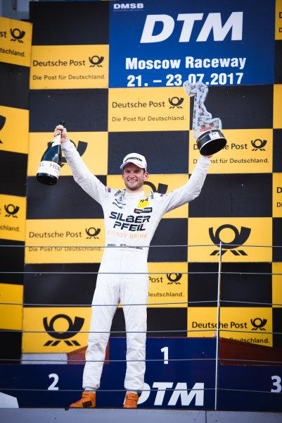 2017 DTM Round 5 Moscow Raceway, Moscow, Russia Sunday 23 July 2017. Podium: Race winner Maro Engel, Mercedes-AMG Team HWA, Mercedes-AMG C63 DTM World Copyright: Evgeniy Safronov/LAT Images ref: Digital Image SafronovEvgeniy_2017_DTM_MRW_SanFast-24