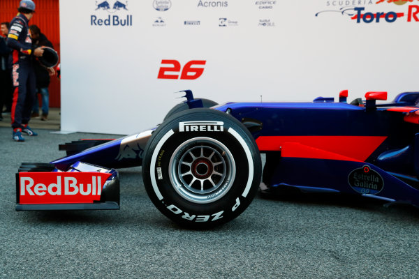Toro Rosso STR12 Formula 1 Launch. Barcelona, Spain  Sunday 26 February 2017. STR12 World Copyright: Dunbar/LAT Images Ref: _X4I9727