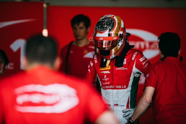 Bahrain International Circuit, Sakhir, Bahrain. Friday 31 March 2017 Charles Leclerc (MON) PREMA Racing  Photo: Malcolm Griffiths/FIA Formula 2 ref: Digital Image MALC1549