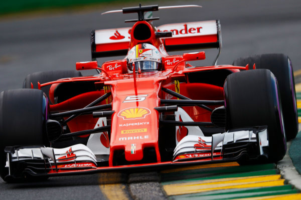 Albert Park, Melbourne, Australia. Saturday 25 March 2017. Sebastian Vettel, Ferrari SF70H. World Copyright: Steven Tee/LAT Images ref: Digital Image _R3I0319