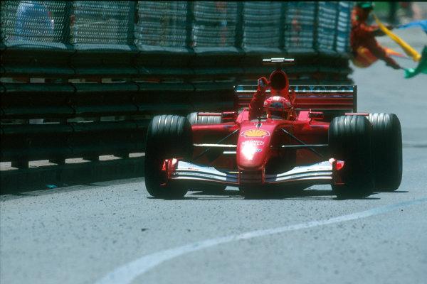 Monte Carlo, Monaco. 29th May 2001. Michael Schumacher, Ferrari F2001.World Copyright: Charles Coates/LAT Photographic ref: 35mm Priority Image 01MON20