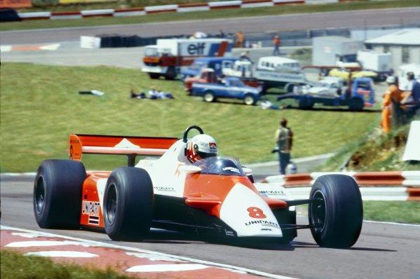 1982 British Grand Prix.Brands Hatch, Great Britain. 18 July 1982.Niki Lauda, McLaren MP4/1B-Ford, 1st position, action.World Copyright: LAT PhotographicRef: 35mm transparency 82GB43