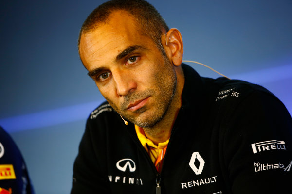 Spa Francorchamps, Belgium.  Friday 25 August 2017. Cyril Abiteboul, Managing Director, Renault Sport F1, in the Team Principals Press Conference. World Copyright: Andy Hone/LAT Images  ref: Digital Image _ONZ9396