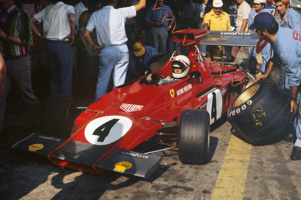 1973 Austrian Grand Prix.  Osterreichring, Austria. 17-19th August 1973.  Arturo Merzario, Ferrari 312B3, in the pits.  Ref: 73AUT28. World Copyright: LAT Photographic