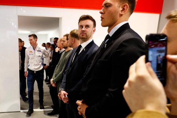 Autosport International Exhibition. National Exhibition Centre, Birmingham, UK. Thursday 11th January 2017. Elfyn Evans at the WRC launch.World Copyright: Ashleigh Hartwell/LAT Images Ref: _O3I7673