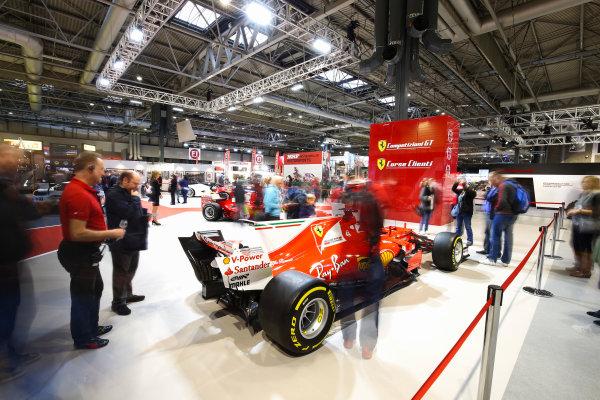 Autosport International Exhibition. National Exhibition Centre, Birmingham, UK. Sunday 14th January 2018. The Ferrari stand.World Copyright: Mike Hoyer/JEP/LAT Images Ref: AQ2Y9690