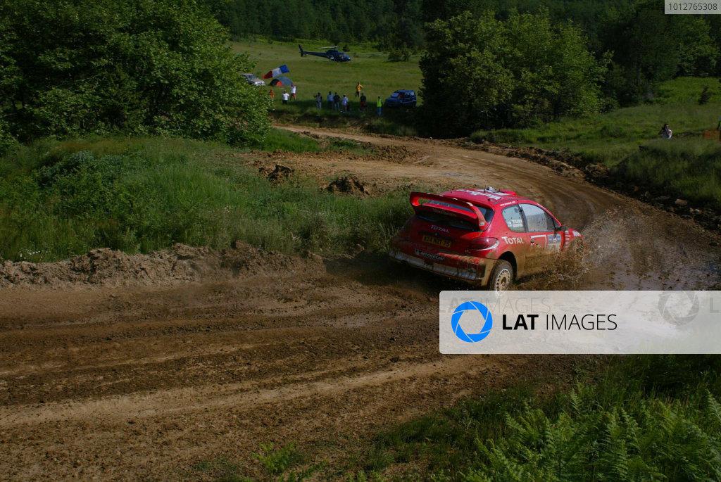 Harri Rovanpera,Peugeot 206 WRC, Acropolis Rally 2003.