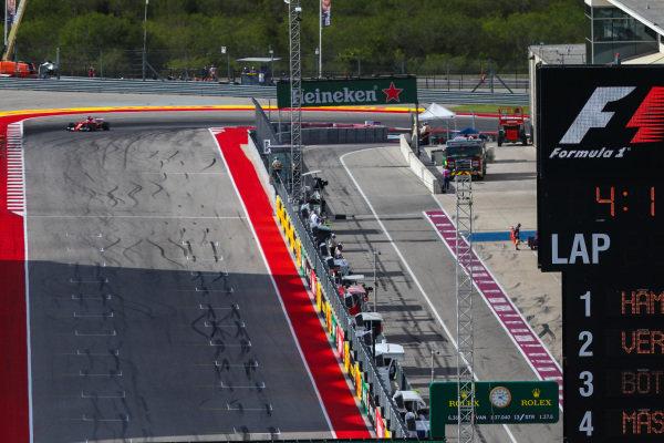 Pit lane at Formula One World Championship, Rd17, United States Grand Prix, Qualifying, Circuit of the Americas, Austin, Texas, USA, Saturday 21 October 2017.