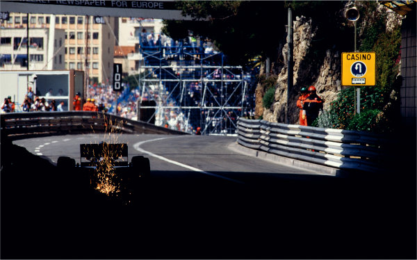 2003 Racing Past. . Exhibition1993 Monaco Grand Prix, Monte Carlo. A car emerges from the tunnel into daylight.World Copyright - LAT PhotographicExhibition ref: a086