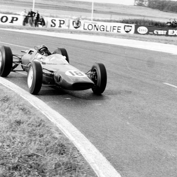 1963 French Grand Prix Reims, France 28-30 June 1963 Jim Clark (Lotus 25 Climax) 1st position. Ref-20141 World Copyright - LAT Photographic