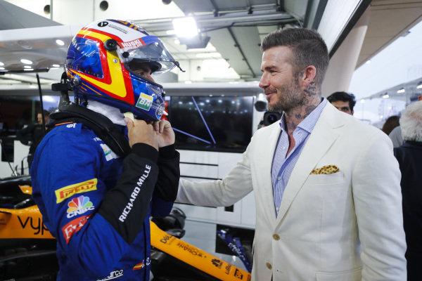 Carlos Sainz Jr, McLaren and David Beckham