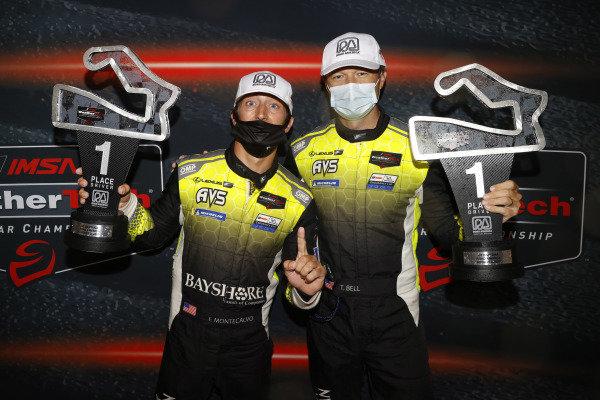 #12 AIM Vasser Sullivan Lexus RC-F GT3, GTD: Frankie Montecalvo, Townsend Bell, podium