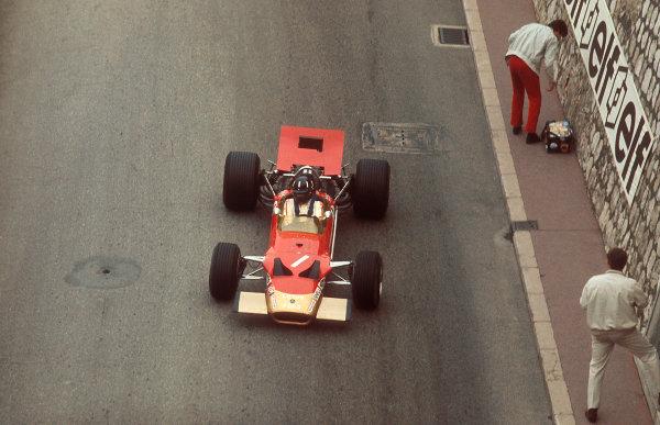 1969 Monaco Grand Prix. Monte Carlo, Monaco. 15-18 May 1969. Graham Hill (Lotus 49B Ford) 1st position. Ref-69 MON 13. World Copyright - LAT Photographic