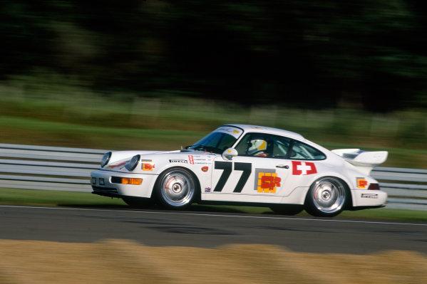 Le Mans, France. 19th - 20th June 1993.Claude Haldi/Olivier Haberthur/Charles Margueron (Porsche Carrera RSR), 18th position, action. World Copyright: LAT Photographic.Ref:  93LM15.