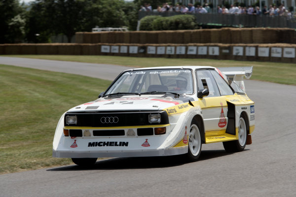 2005 Goodwood Festival of SpeedGoodwood Estate, West Sussex. 24th - 26th June Audi Quattro. Action World Copyright: Gary Hawkins/LAT Photographicref: Digital Image Only