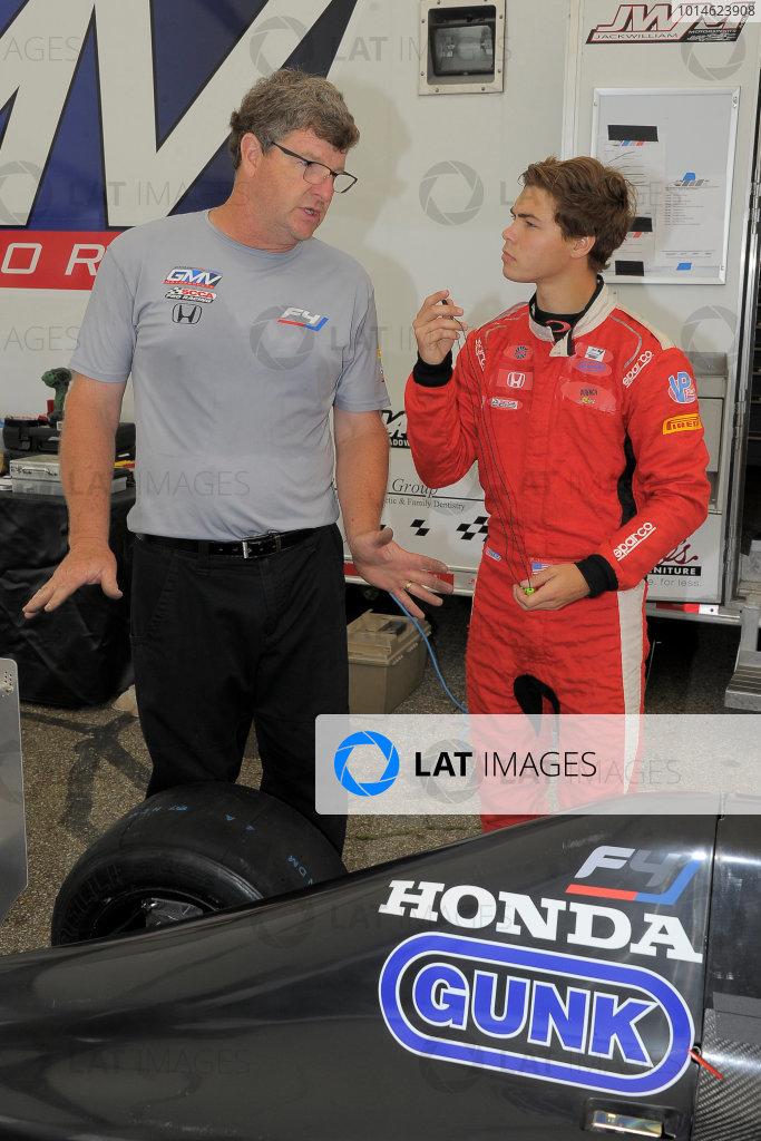 30 June-3 July, 2016, Lexington, Ohio USA Former IndyCar chief mechanis, Mitch Davis talks to Austin Kaszuba about information a young driver needs. ©2016, Dan R, Boyd LAT Photo USA