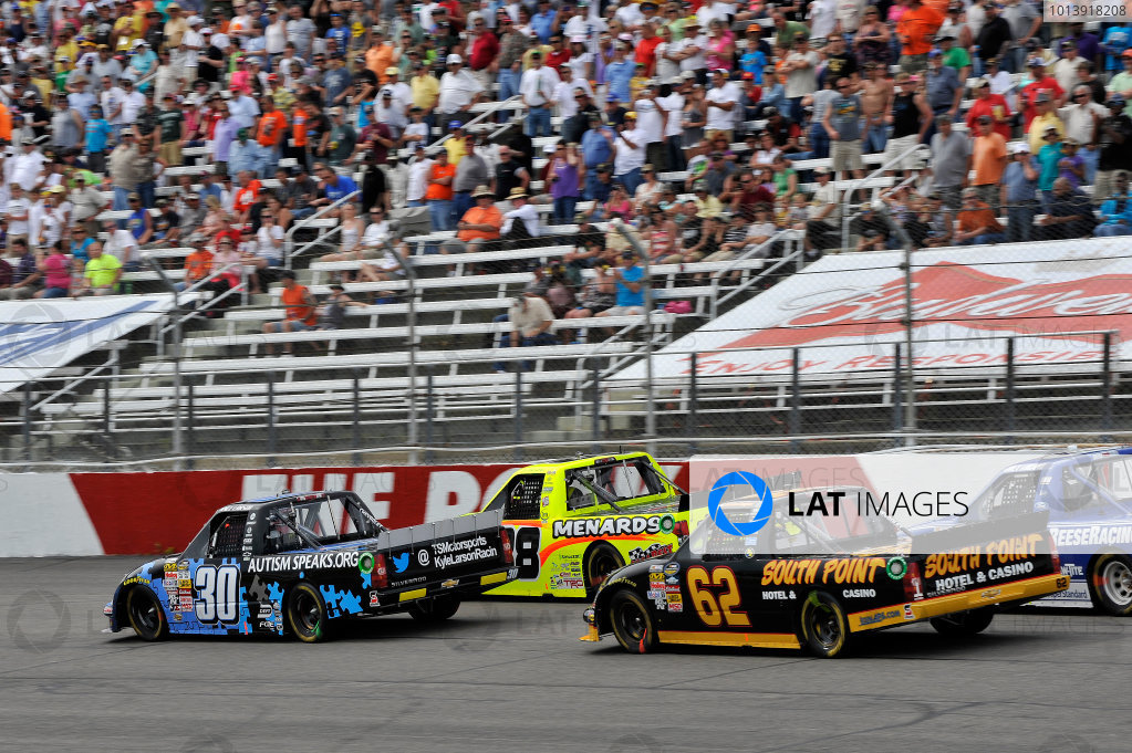 13-14 April, 2013, Rockingham, North Carolina USA Kyle Larson, Matt Crafton, Brendan Gaughan ©2013, Scott R LePage LAT Photo USA