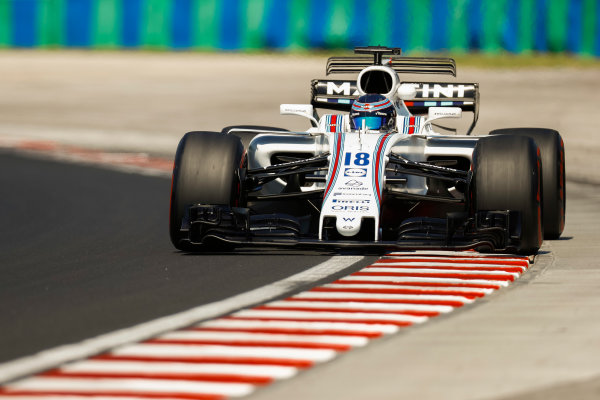 Hungaroring, Budapest, Hungary.  Tuesday 01 August 2017. Lance Stroll, Williams FW40 Mercedes. World Copyright: Joe Portlock/LAT Images  ref: Digital Image _R3I0820