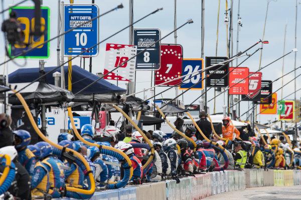 Verizon IndyCar Series Kohler Grand Prix Road America, Elkhart Lake, WI USA Sunday 25 June 2017 Pit Lane World Copyright: Geoffrey M. Miller LAT Images