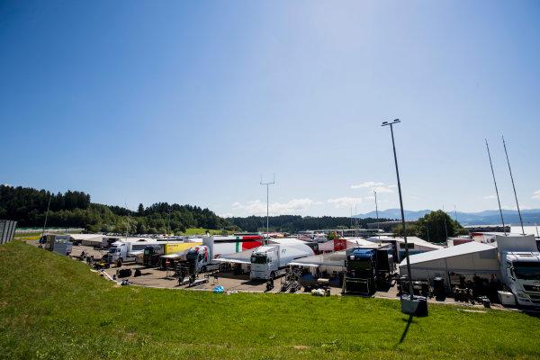 2017 FIA Formula 2 Round 5. Red Bull Ring, Spielberg, Austria. Thursday 6 July 2017. A view of the paddock. Photo: Zak Mauger/FIA Formula 2. ref: Digital Image _56I9964