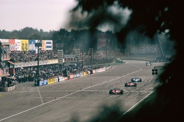 Race winner and World Champion Jody Scheckter (RSA) Ferrari 312T4 leads second placed team mate Gilles Villeneuve (CDN) Ferrari 312T4B and Jacques Laffite (FRA) Ligier JS11, who retired from the race on lap 42 with a blown engine.Italian Grand Prix, Rd 13, Monza, Italy, 9 September 1979.BEST IMAGE