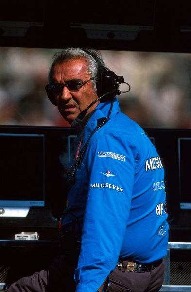 Flavio Briatore (ITA) Renault Team Principal on the pitwall.