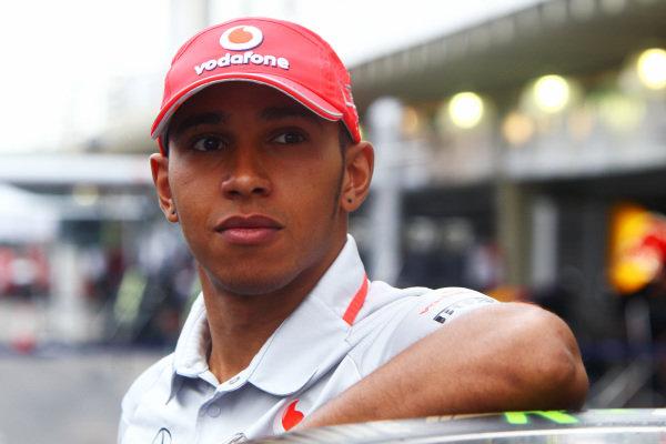 Lewis Hamilton (GBR) McLaren. Formula One World Championship, Rd 18, Brazilian Grand Prix, Preparations, Interlagos, Sao Paulo, Brazil, Thursday 4 November 2010.