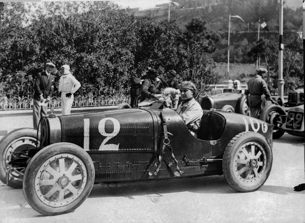 """Monte Carlo.14 April 1929.""""W Williams"""" (real name William Grover-Williams, Bugatti T35B), 1st position.Published-Autocar 19/4/1929 p800.World Copyright - LAT Photographic"""