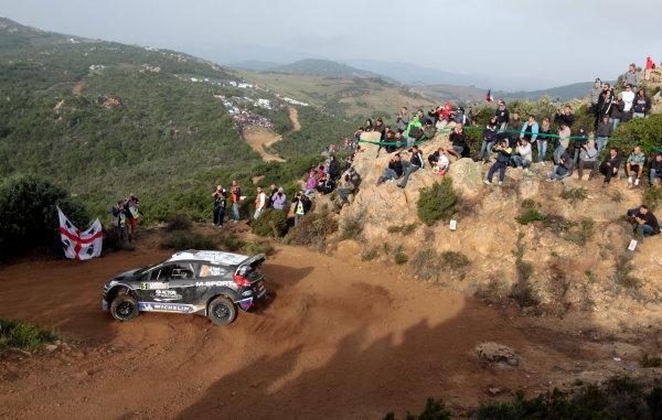 2012 FIA World Rally Championship Round 12, Rally d'Italia Sardinia 2012 18th - 21st October 2012 Ott Tanak, Ford, action Worldwide Copyright: McKlein/LAT