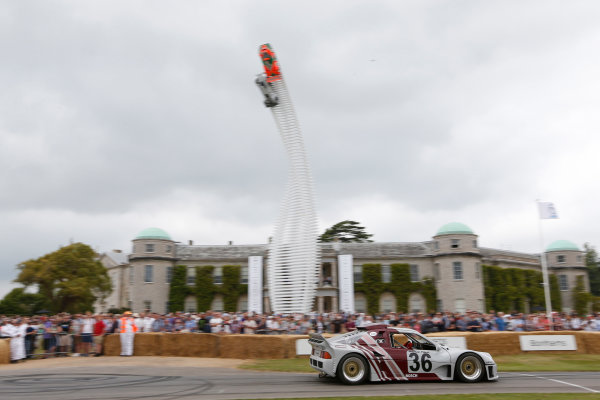 2015 Goodwood Festival of Speed Goodwood Estate, West Sussex, England. 25th - 28th June 2015. Jeff Elghanayan, Ford RS200 IMSA GTO. World Copyright: Alastair Staley/LAT Photographic ref: Digital Image_R6T7525