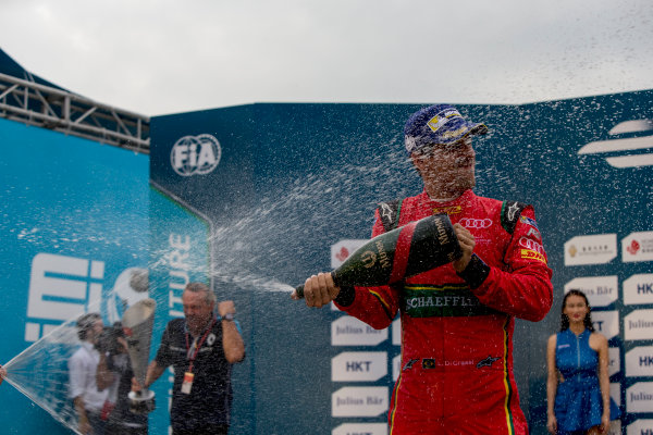 2016/2017 FIA Formula E Championship. Hong Kong ePrix, Hong Kong, China. Sunday 9 October 2016. Lucas Di Grassi (BRA), ABT Schaeffler Audi Sport, Spark-Abt Sportsline, ABT Schaeffler FE02.  Photo: Zak Mauger/LAT/Formula E ref: Digital Image _X0W3004