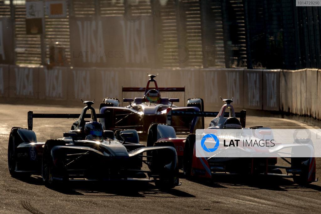 2016/2017 FIA Formula E Championship. Marrakesh ePrix, Circuit International Automobile Moulay El Hassan, Marrakesh, Morocco. Saturday 12 November 2016. Stephane Sarrazin (FRA), Venturi, Spark-Venturi, Venturi VM200-FE-02 and Nick Heidfeld (GER), Mahindra Racing, Spark-Mahindra, Mahindra M3ELECTRO.  Photo: Zak Mauger/Jaguar Racing ref: Digital Image _X0W6201