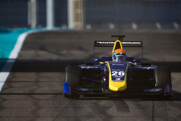2016 GP3 Series Test 5. Yas Marina Circuit, Abu Dhabi, United Arab Emirates. Wednesday 30 November 2016. Santino Ferrucci (USA, DAMS)  Photo: Sam Bloxham/GP3 Series Media Service. ref: Digital Image _SLA1414