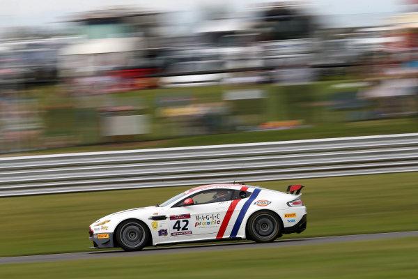 2017 British GT Championship Snetterton, 27th-28th May 2017, William Phillips / Jan Jonck - Macmillan AMR - Aston Martin Vantage GT4 World copyright. JEP/LAT Images