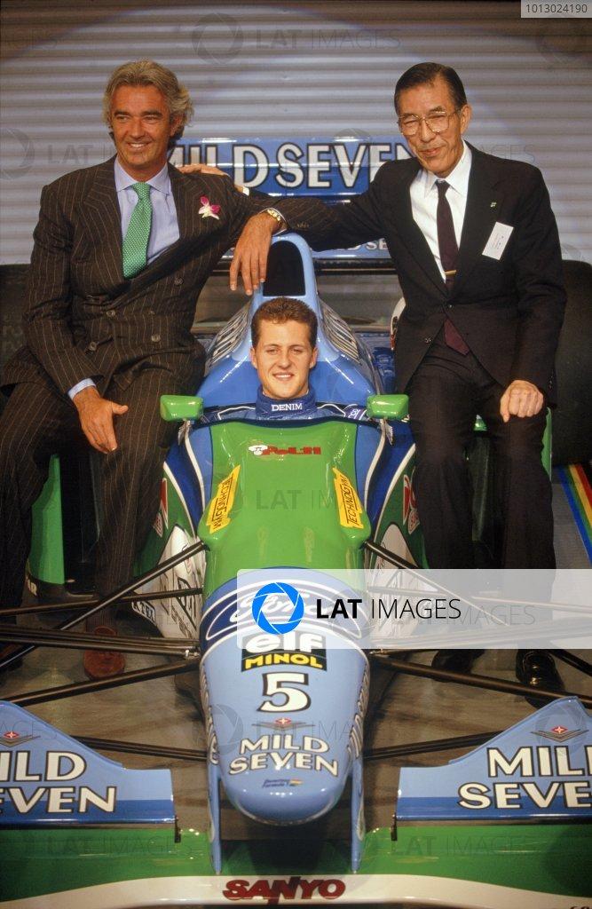 1994 Mild Seven Benetton sponsorship launch.