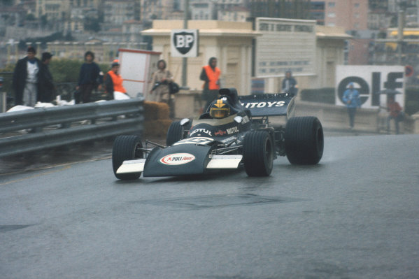 1972 Monaco Grand Prix.  Monte Carlo, Monaco. 11-14th May 1972.  Carlos Pace, March 711 Ford, 17th position.  Ref: 72MON64. World Copyright: LAT Photographic