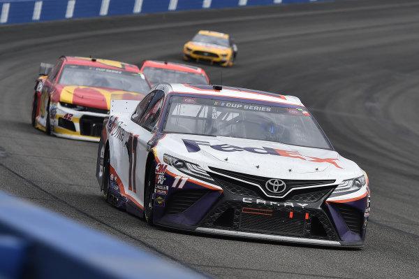 #11: Denny Hamlin, Joe Gibbs Racing, Toyota Camry FedEx Office, #42: Kyle Larson, Chip Ganassi Racing, Chevrolet Camaro McDonald's