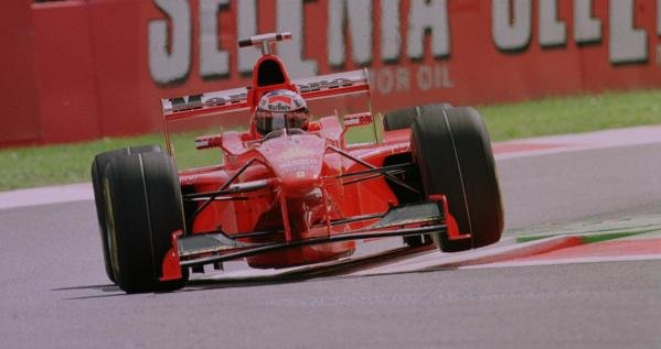 1998 Italian Grand Prix.Monza, Italy.11-13 September 1998.Michael Schumacher (Ferrari F300) 1st position.World Copyright - Steve Etherington/LAT Photographic