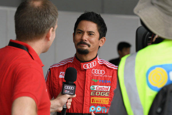 Alex Yoong (MAL) Audi R8 LMS Cup is interviewed before qualifying at Audi R8 LMS Cup, Rd7 and Rd8, Shanghai, China, 8-10 September 2017.