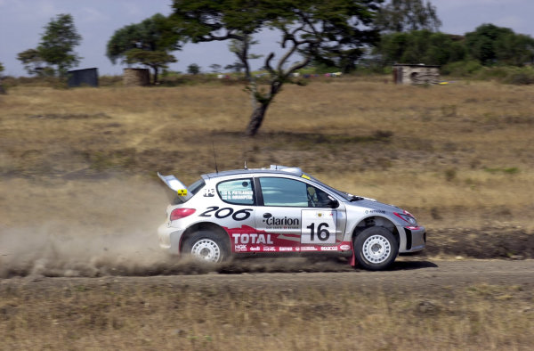 2001 World Rally Championship.Nairobi, Kenya. July 20-22, 2001Harri Rovanpera during shakedown.Photo: Ralph Hardwick/LAT